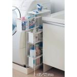 サニタリー:洗面脱衣所:洗濯機横の収納グッズ&家具