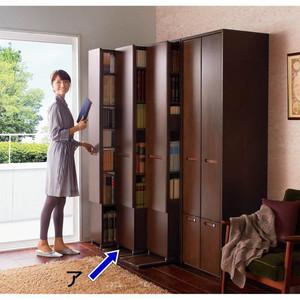 片手でラクラク開閉できる 本格派 スライド収納書棚